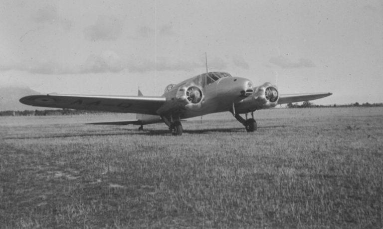 RAAF Avro Anson at St Pats Aerodrome, Flinders Island,. about 1937