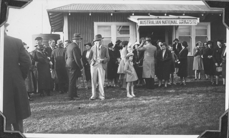 ANA Shed at St Pats Aerodrome, Flinders Island,. about 1937