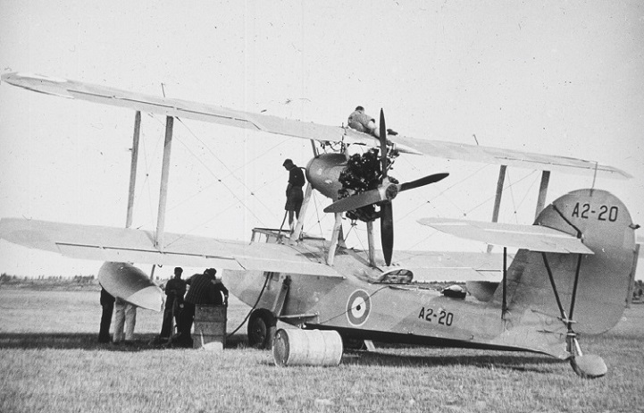 RAAF Supermarine Seagull V at St Pats Aerodrome, Flinders island, about 1937