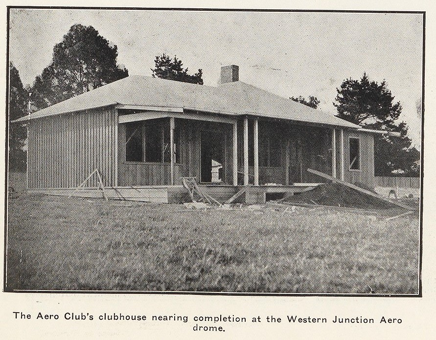 Aero Club Clubhouse under construction Nov 1931 at Western Junction