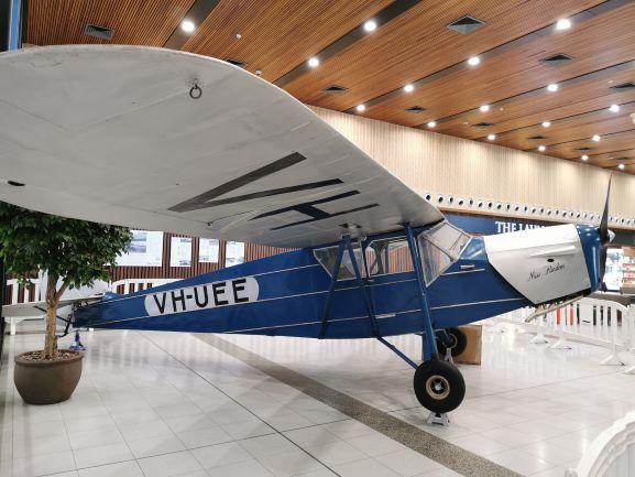 Miss Flinders VH-UEE on display at Launceston Airport - February 2021